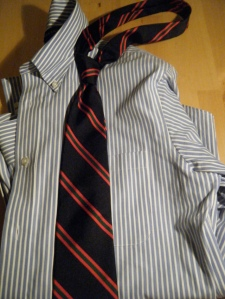 Manshion rep tie and shirt