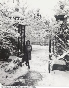 Winter at Radcliffe College