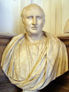 Cicero, wearing  the oxford cloth button down shirt of his day, I'm guessing.